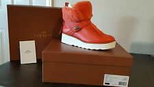 Coach Women's Boots Orange Urban Hiker Shearling - Size 7.5