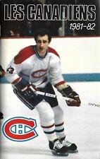 Montreal Canadiens NHL Ice Hockey Media Guide 1981/82 #23 Bob Gainey
