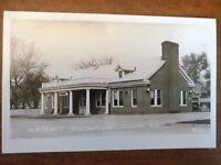 RPPC Mandan North Dakota N.P. Depot Beanery Restaurant Railroad Station ND Rail