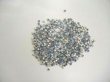 200 swarovski 4-hole rose montees,light sapphire,12ss/sterling plate