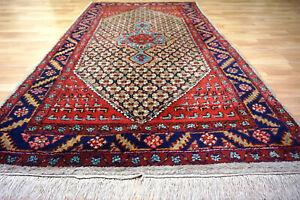 Schöner handgeknüpfter Hamedan 230x127 cm Orient Teppich 5002 Heriz Ghom Sarouk