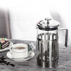 NEU Kaffeebereiter Kaffeepresse Kaffee Kanne French Press Glas Edelstahl