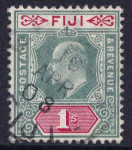 Fiji fine used 1903 KEVII one shilling single Crown CA wmk