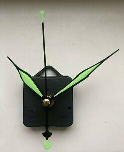 Art Deco Style Green Clock Movement - Quartz Sweeping Hands - NEW - Mechanism UK