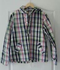 UNISEX PLAID 100% Cotton Drawstring Waist Shirt Top Hoodie by MERONA S