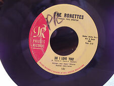 THE RONETTES ON PHILLIES RECORDS DO I LOVE YOU / BEBE AND SUSU