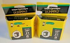Lot of 2 Ink for Dummies DH-21 Black Ink Cartridge Replaces HP 21 (C9351A) New