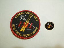 Lot of 2 NASA Space Shuttle Mission IML STS-65 Columbia Iron On Patch & Pin