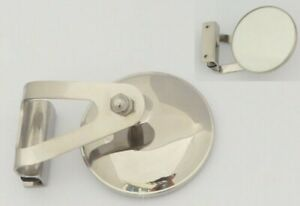 Austin / BMC Classic Mini Stainless Steel LH Clamp-On Circular Overtaking Mirror