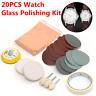 20Pcs/ Watch Glass Polishing Kit,Glass Scratch Removal,Acrylic,Sapphire Crystal