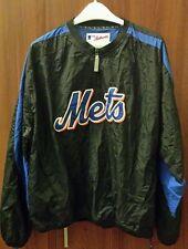 MLB Majestic NY Mets 100% Nylon Black & Blue Jacket L