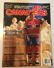 LES CANADIENS MAGAZINE - NHL HOCKEY MONTREAL - STEPHANE RICHER OCT/NOV 1988