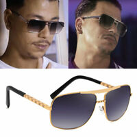 Designer Oversized Square Aviator Sunglasses Men's Classic Driving Glasses UV400