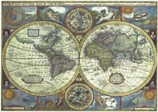 Double World Map John Speed Reproduction Map c1646 A3 Size Parchment Paper.