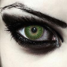 Farbige Kostüm Kontaktlinsen Halloween rote weiße grüne Vampir Zombie Dämonen
