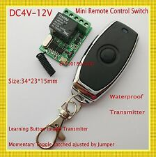 Micro Relay Remote Switch 4V 5V 6V 7.4V 9V 12V Switching Wireless ON OFF 10A ASK