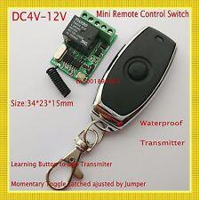 Micro Relay Remote Switch 4V 5V 6V 7.4V 9V 12V Switching Wireless ON OFF 10A ASK