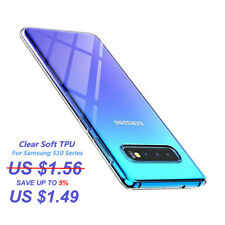 For Samsung Galaxy Note 10 S10 S9 Plus Clear Soft TPU Silicone Slim Case Cover
