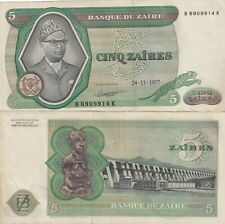 ZAIRE,1977,5 ZAIRES,CIRCULATED,,(1)