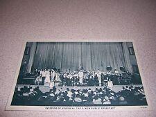 1940s WGN PUBLIC BROADCAST STUDIO INTERIOR CHICAGO IL. VTG POSTCARD
