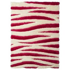 Zebra Eyelash Shag Area Rug