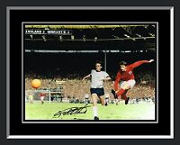 New Geoff Hurst England Signed And Framed Football Photograph A