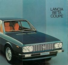 Lancia Beta Coupe Series 1 1974-76 UK Market Launch Foldout Brochure 1600 1800