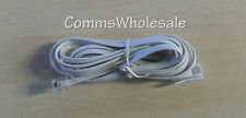 White Line Cord For BT Paragon 550 Telephone Answering Machine