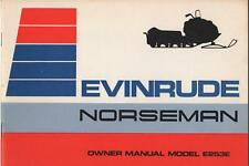 EVINRUDE NORSEMAN SNOWMOBILE OWNERS MANUAL