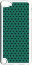 Teal Green and Brown Polka Dots on iPod Touch 5th Gen 5G White TPU Case Cover