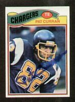 Pat Curran signed autograph 1977 Topps Football Card