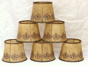 RARE Gorgeous set of 6 Lamp shades Pig Bladder Late 19TH Sconce Wall Chandilier