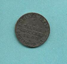 GERMANY PRUSSIA SILVER 1/2 SILBER GROSCHEN 1866A