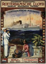 Sri Lanka Sailings from Holland, 1914, Reproduction Vintage Travel Poster