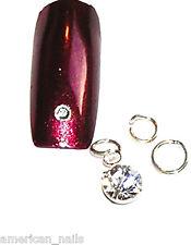 Piercing bijoux d'Ongle Strass SWAROVSKI Cristal Argenté 6 mm Nail Art