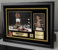 "Muhammad Ali Framed Canvas Print Signed Limited Edition ""Great Gift & Souvenir"""