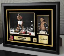 """Muhammad Ali Framed Canvas Print Signed Limited Edition """"Great Gift & Souvenir"""""""