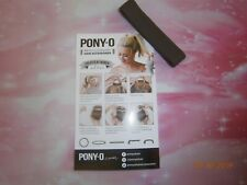 (1) ONE PONY-O Hair Tie Band Clip NEW! **Dark Chocolate**