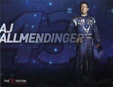 2011 AJ Allmendinger Air Force Ford Fusion NASCAR Sprint Cup postcard