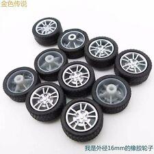 10pcs Rubber Tire 16mm Wheel RC Model Toy Car accessories Shaft Dimeter 2mm