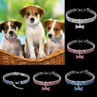 Pet Dog Collar Bling Small Pet Puppy Cat Crystal Necklace Accessories Gift