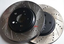 Fits CTS Std Susp Drilled Slotted or Slotted Made From StopTech Blank Front Pair