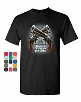 Crossed Guns Don't Tread on Me T-Shirt Gadsden 2nd Amendment Mens Tee Shirt