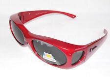 figuretta solaire- dessus des lunettes UV 400 polarisé rouge en