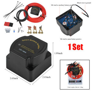 12V Dual Battery System Isolator 140AMP Voltage Sensitive Relay for Ships,SUV,RV
