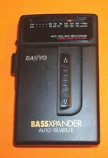 Vintage Sanyo Mgr-703 Fm/Am Stereo Radio Cassette Player Bass Expander C3.4