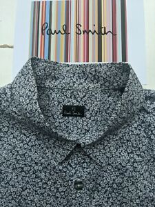 PAUL SMITH MEN'S FLORAL SHIRT - Size Med - Excellent Style & Condition !! COOL