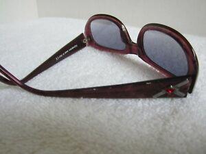 Vtg Yves Saint Laurent Sunglasses 6585 Made in ItalyPurple Frames Blue Lens EUC