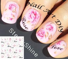 Nail Art Water Transfer Stickers-Decals-Adesivi per Unghie Fiori-Manicure!