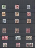 DAP, CHINA, 1898 - 1919, verschiedene Einzelmarken ex MiNrn: 1 - 47 o,gestempelt